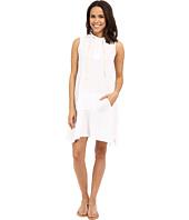 Allen Allen - Sleeveless Hooded Henley Dress