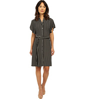 Adrianna Papell - Mandarin Collar Shirtdress