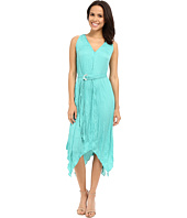 Adrianna Papell - V-Neck Hankerchief Dress