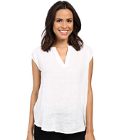 Allen Allen - Linen Split Neck Top