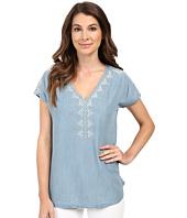 Mavi Jeans - Embroidered Denim V-Neck Top