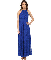 Maggy London - Pintuck Drop Waist Maxi Dress
