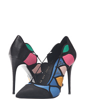 Salvatore Ferragamo - Multcolor Suede High Heel