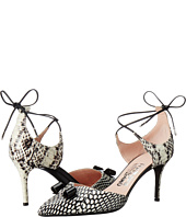 Salvatore Ferragamo - Watersnake Lace Up Closed Toe Heel