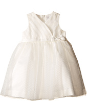Us Angels - Satin & Point d' Espirit Sleeveless Pleated Bodice & Full Skirt (Infant)