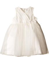 Us Angels - Satin & Point d' Espirit Sleeveless Pleated Bodice & Full Skirt (Infant)
