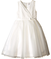 Us Angels - Satin & Point d' Espirit Sleeveless Pleated Bodice & Full Skirt (Little Kids)