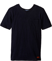7 For All Mankind Kids - Short Sleeve Slub Jersey V-Neck Pocket T-Shirt (Big Kids)