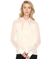 Prabal Gurung - Long Sleeve Tie Neck Blouse