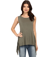 Brigitte Bailey - Berlyn Stripe Panel Fringe Tank Top