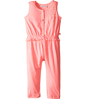 IKKS - Jersey Jumpsuit with Metallic Polka Dots & Button Up Front No Snaps (Toddler)