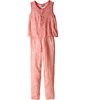 IKKS - Sleeveless Printed Jumpsuit with 2-in-1 Look/Button Front/Loose Pants Fit & Elastic Waistband (Little Kids/Big Kids)