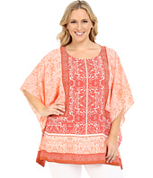 Vince Camuto Specialty Size - Plus Size Maze Panel Poncho