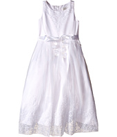 Us Angels - Embroidered Organza & Satin Sleeveless Lace Dress (Little Kids/Big Kids)