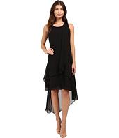 Christin Michaels - Fenella Layered High-Low Dress