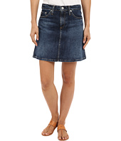 AG Adriano Goldschmied - The Ali A-Line Mini Denim Skirt in Indigo