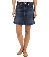 AG Adriano Goldschmied - The Ali A-Line Mini Denim Skirt in Indigo