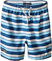 Toobydoo - Multi Stripe Blue/White Lace Drawstring Swim Shorts (Infant/Toddler/Little Kids/Big Kids)