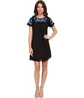 Rebecca Taylor - Folk Garden Embroidery Short Sleeve Dress