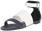 Leather and Woven Eco Leather Sandal