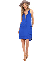 HEATHER - Woven Henley Tank Dress