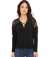 Brigitte Bailey - Adley Front Tie Top with Lace Detail