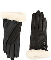 UGG - Art Deco Stud Smart Gloves w/ Short Pile Trim