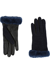 UGG - Shorty Smart Fabric Gloves w/ Short Pile Trim