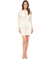 Adelyn Rae - Long Sleeve V Back Sheath Dress