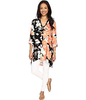 Miraclebody Jeans - Cece Collared Caftan Tunic w/ Body-Shaping Inner Shell