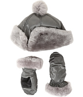 UGG Kids - Fabric Pom Hat and Mitten Boxed Set (Toddler/Little Kids)
