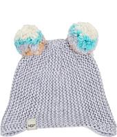 UGG Kids - Multicolor 2 Pom Knit Hat (Toddler/Little Kids)