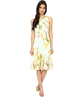 Maggy London - Water Wash Garden Printed Scuba Fit and Flare Dress