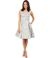 Maggy London - Spring Floral Brocade Fit and Flare Dress
