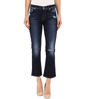 7 For All Mankind - Cropped Boot with Holes in Mykonos Dark Indigo 2