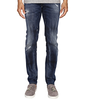 DSQUARED2 - Five-Pocket Bubble Wash Slim Jeans in Blue