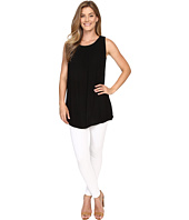 Allen Allen - Sleeveless Gathered Neck Tunic