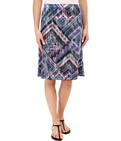 Nally & Millie - Scarf Print Reversible Burnout Skirt