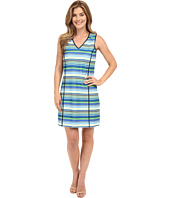 Adrianna Papell - Print V-Neck Sleeveless Shift Dress