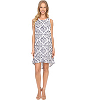 Adrianna Papell - Print Embroidered Eyelet Dress