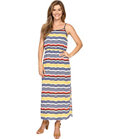 Vince Camuto - Elastic Waist Jagged Stripe Maxi Dress