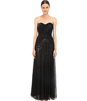 Marchesa Notte - Sequin Gown w/ Draped Tulle Overlay