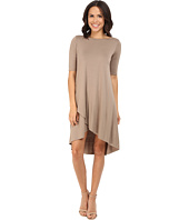 Three Dots - Olya A 3/4 Sleeve High-Low Dress