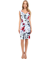 Adrianna Papell - Portrait Neckline Dress w/ Side Drape