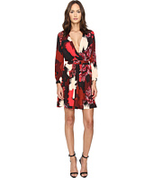 Just Cavalli - Eagle Camo Print Crossover Dress