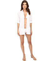 Tommy Bahama - Cut Outs Boyfriend Shirt Cover-Up