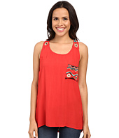 Scully - Mikaela Embroidered Accent Tank Top