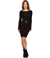 Versace Collection - Long Sleeve Knit Geo Dress