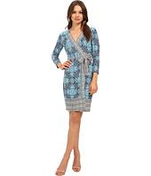 Donna Morgan - 3/4 Sleeve Wrap Matte Jersey Dress