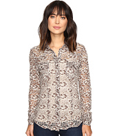 Stetson - Burnout Velvet Floral Pattern Top